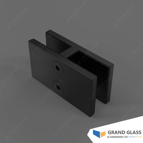 H Shape Clamp for Pool Fence Glass Panels-Matt Black
