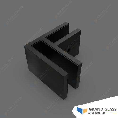 Corner Clamp for Pool Fence Glass Panels-Matt Balck