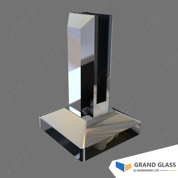 Square mini posts for glass balustrade, glass pool fencing
