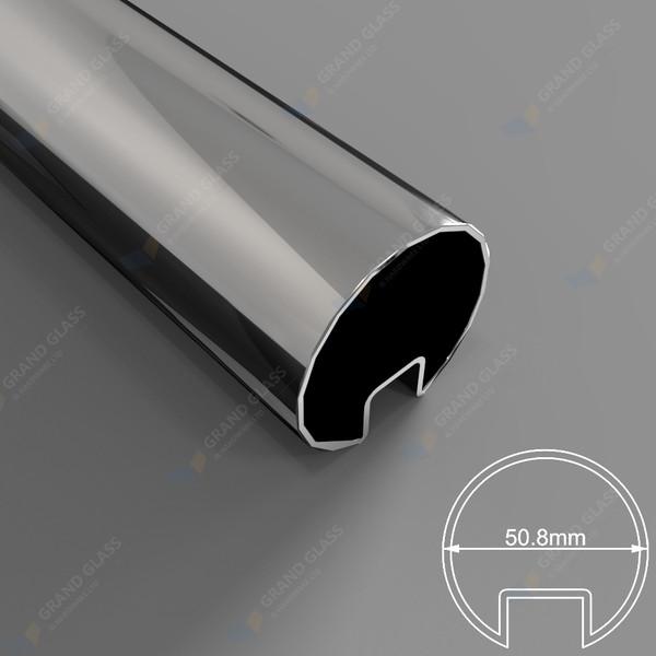 50.8mm Diam Slot Round Tube (316 S/S Mirror)