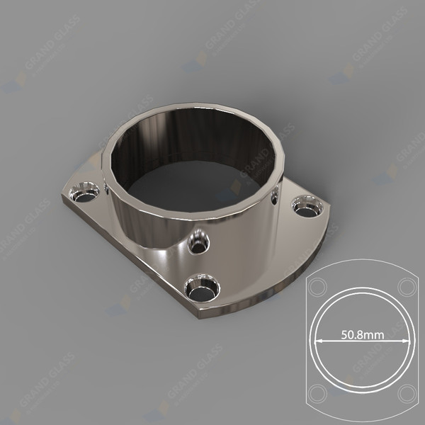 Wall Flange for 50.8mm Dia Round Top Capping Rail