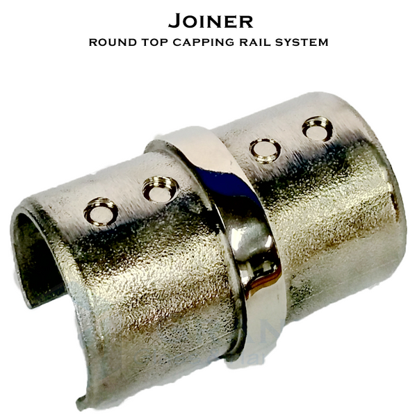 Joiner for 50.8mm Dia Round Top Capping Rail