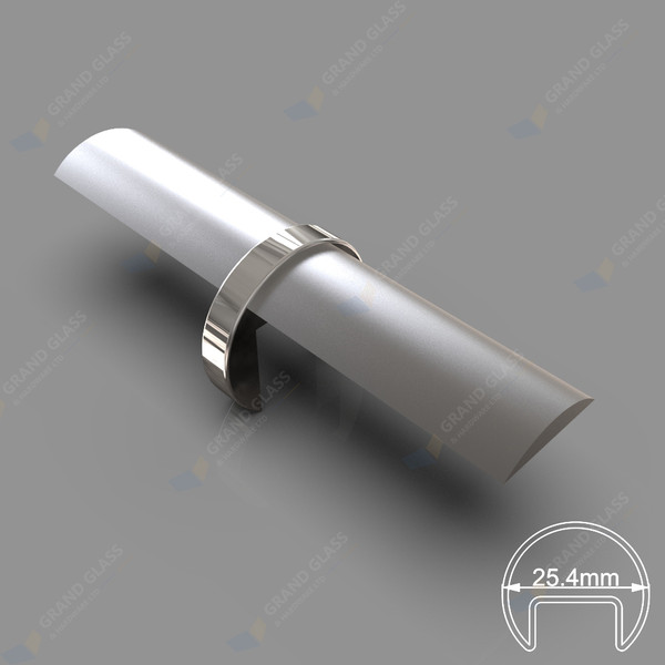Joiner for 25.4mm Dia Round Top Capping Rail
