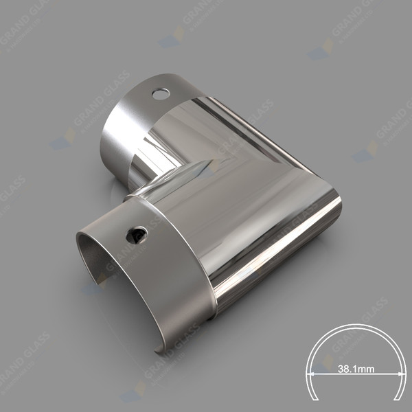 Corner Elbow for 38.1mm Round Top Capping Rail