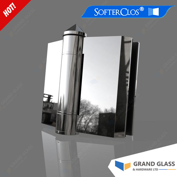 Hydraulic hinge for pool fence gate (one pair) - 180° glass to glass