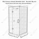 Rectangle Hinge Shower Unit