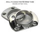 Wall flange for 50.8mm tube; 316 Stainless Steel