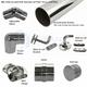 Glass to Rail Bracket for 50.8mm Round Offset Rail System
