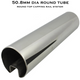50.8mm Diam Slotted Round Tube (316 S/S Mirror)