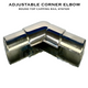Adjustable Elbow for 50.8mm Round Top Capping Rail