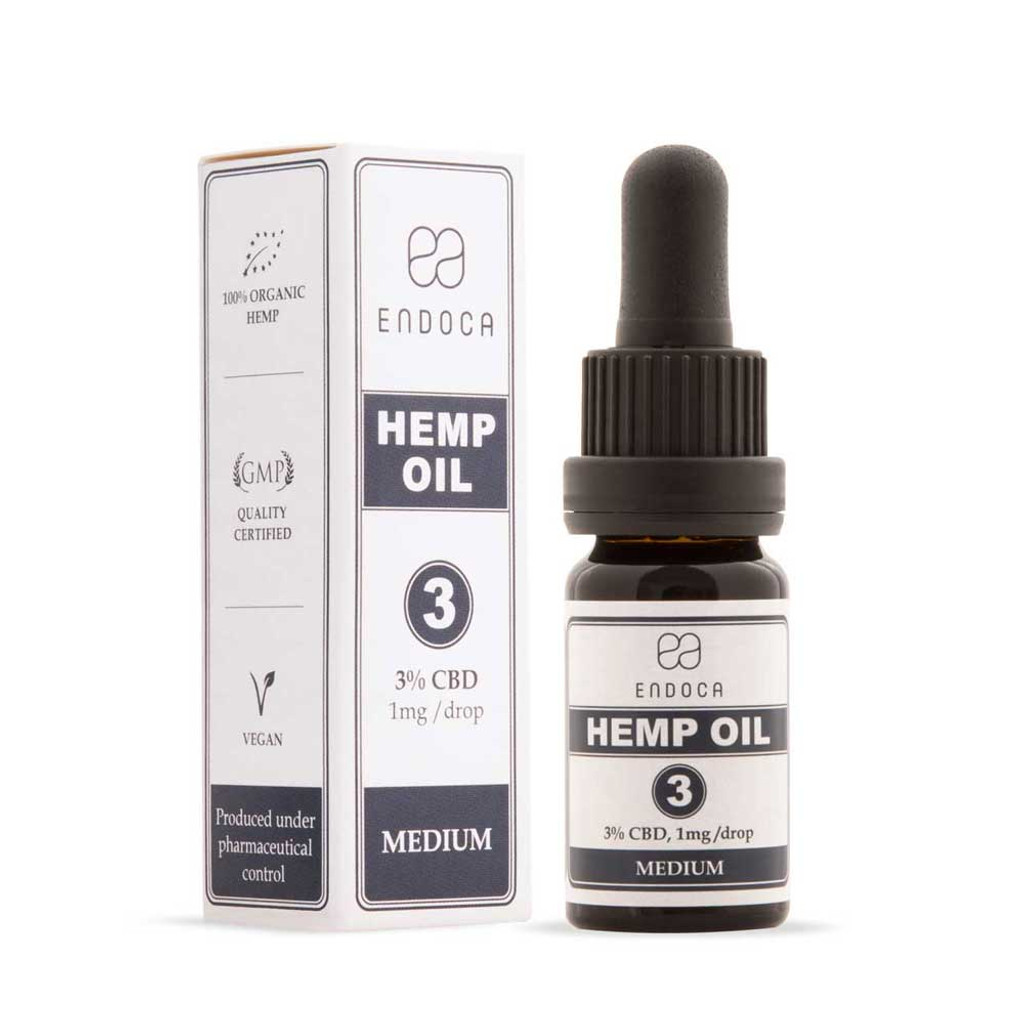 Endoca Hemp Oil Drops Heated (Decarboxylated) 300mg CBD