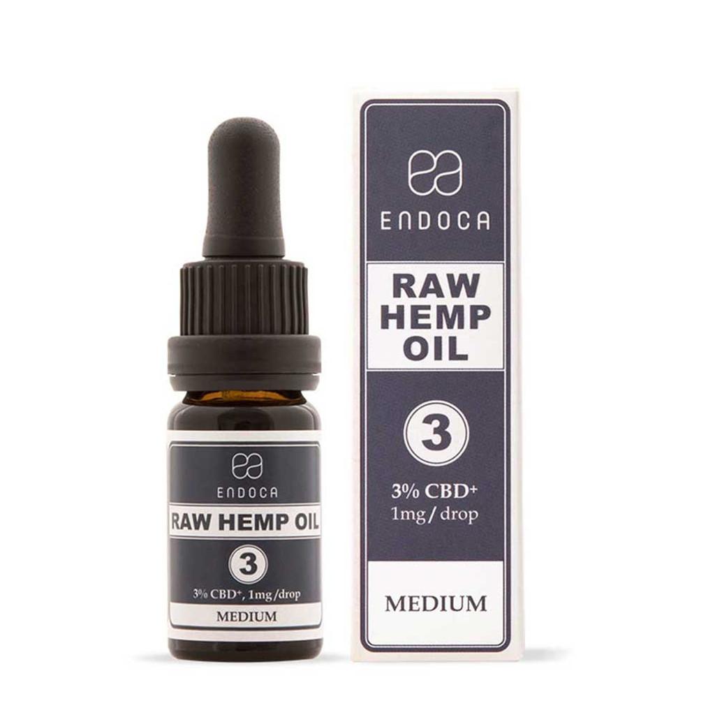 Endoca RAW Hemp Oil Drops 300mg CBD+CBDa (3%) 10ml Tincture