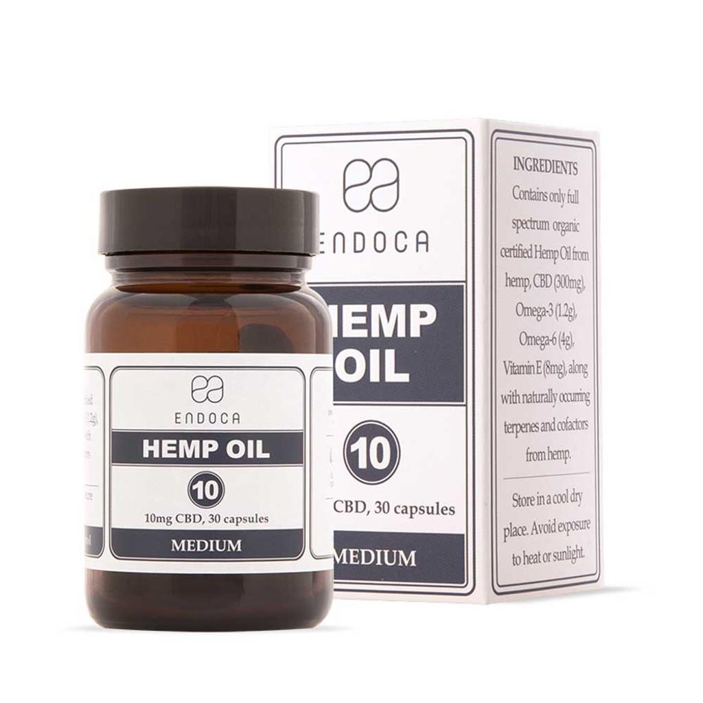 Endoca Heated Hemp Oil Capsules Total 300mg CBD