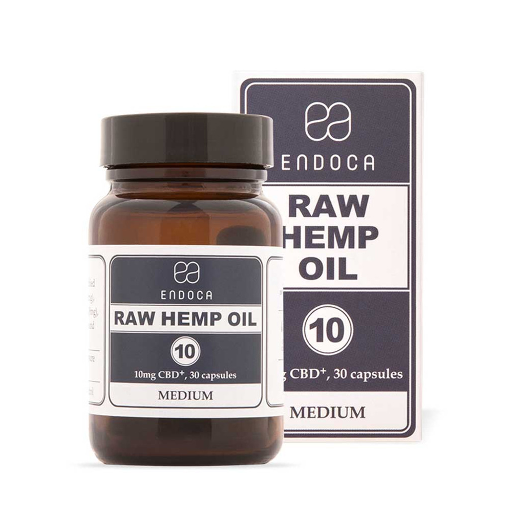 Endoca Raw Hemp Oil Capsules Total 300mg CBD+CBDa