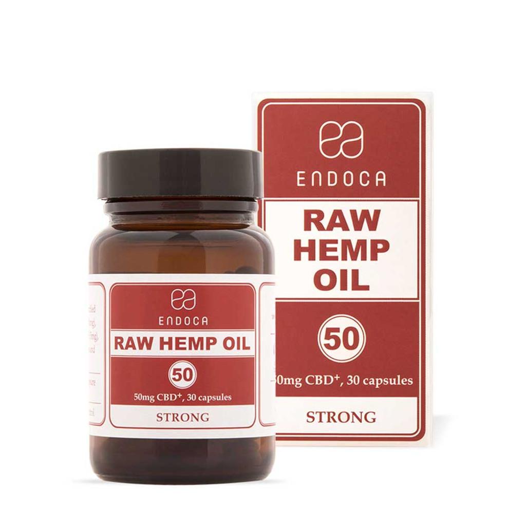 Endoca Raw Hemp Oil Capsules Total 1500mg CBD+CBDa