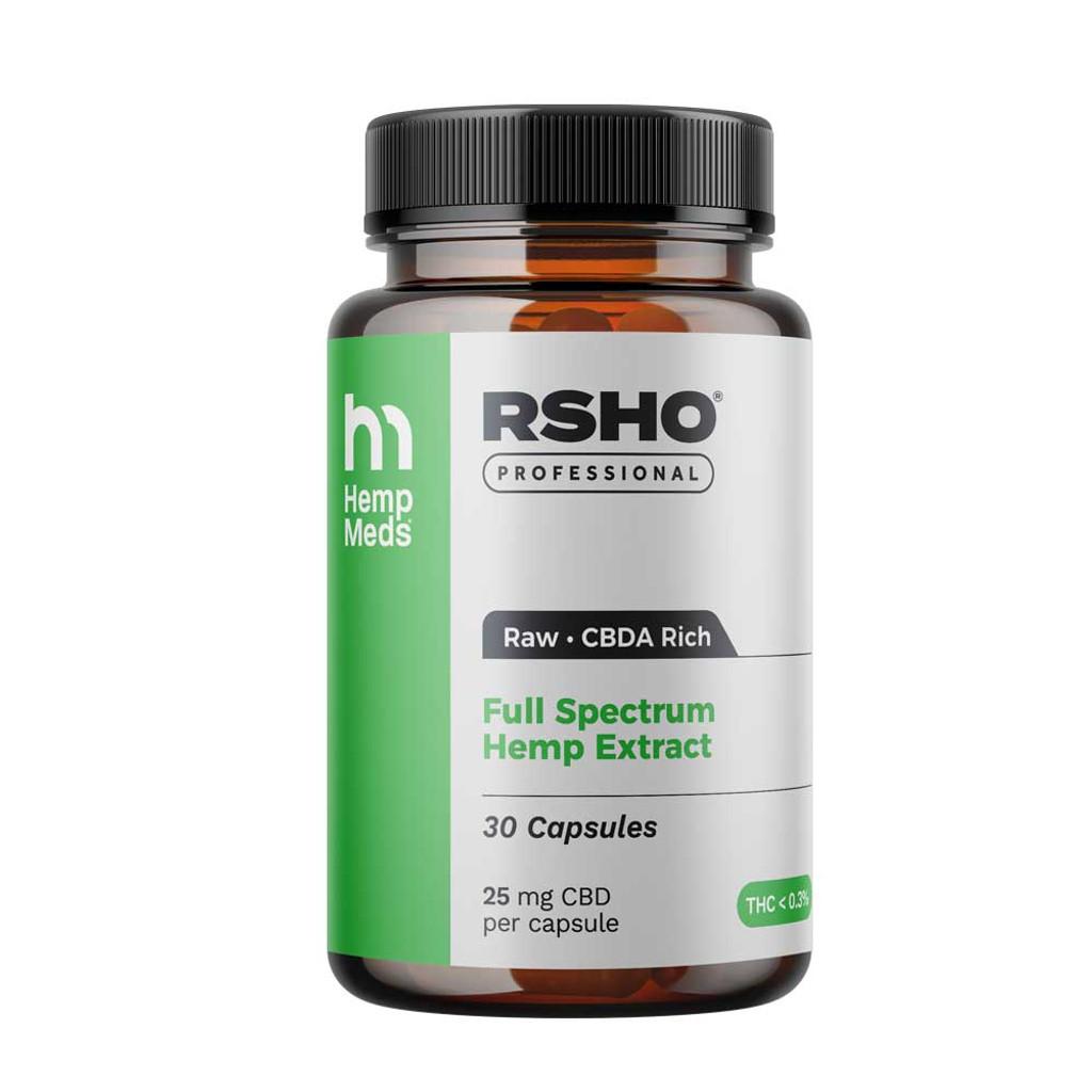 RSHO Pro Green Label Capsules 25mg CBD 30CT (Raw)