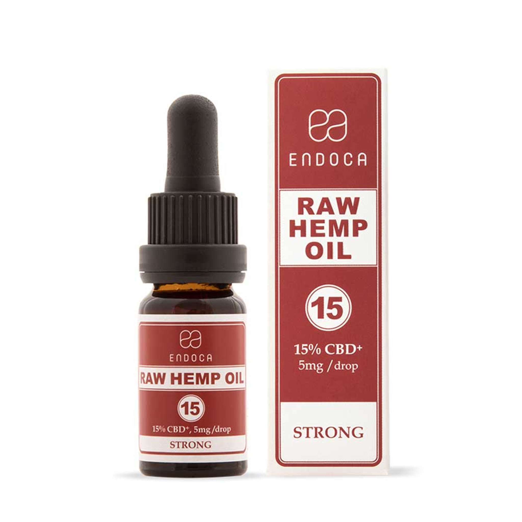Endoca RAW Hemp Oil Drops 1500mg CBD+CBDa (15%)