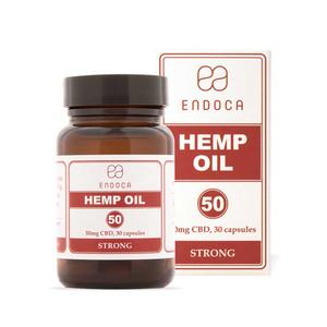 Endoca Heated Hemp Oil Capsules Total 1500mg CBD