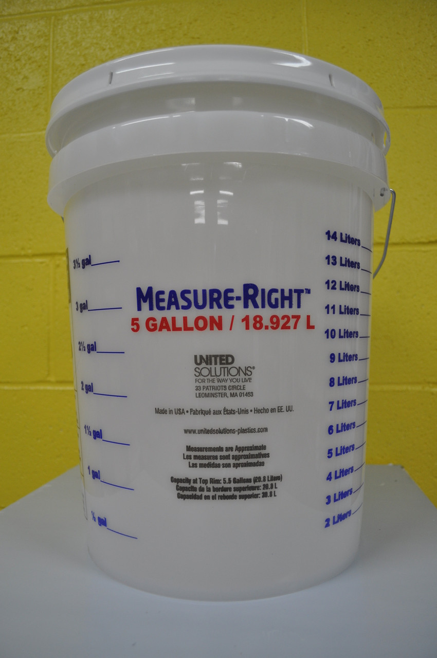 5 gallon bucket with lid.