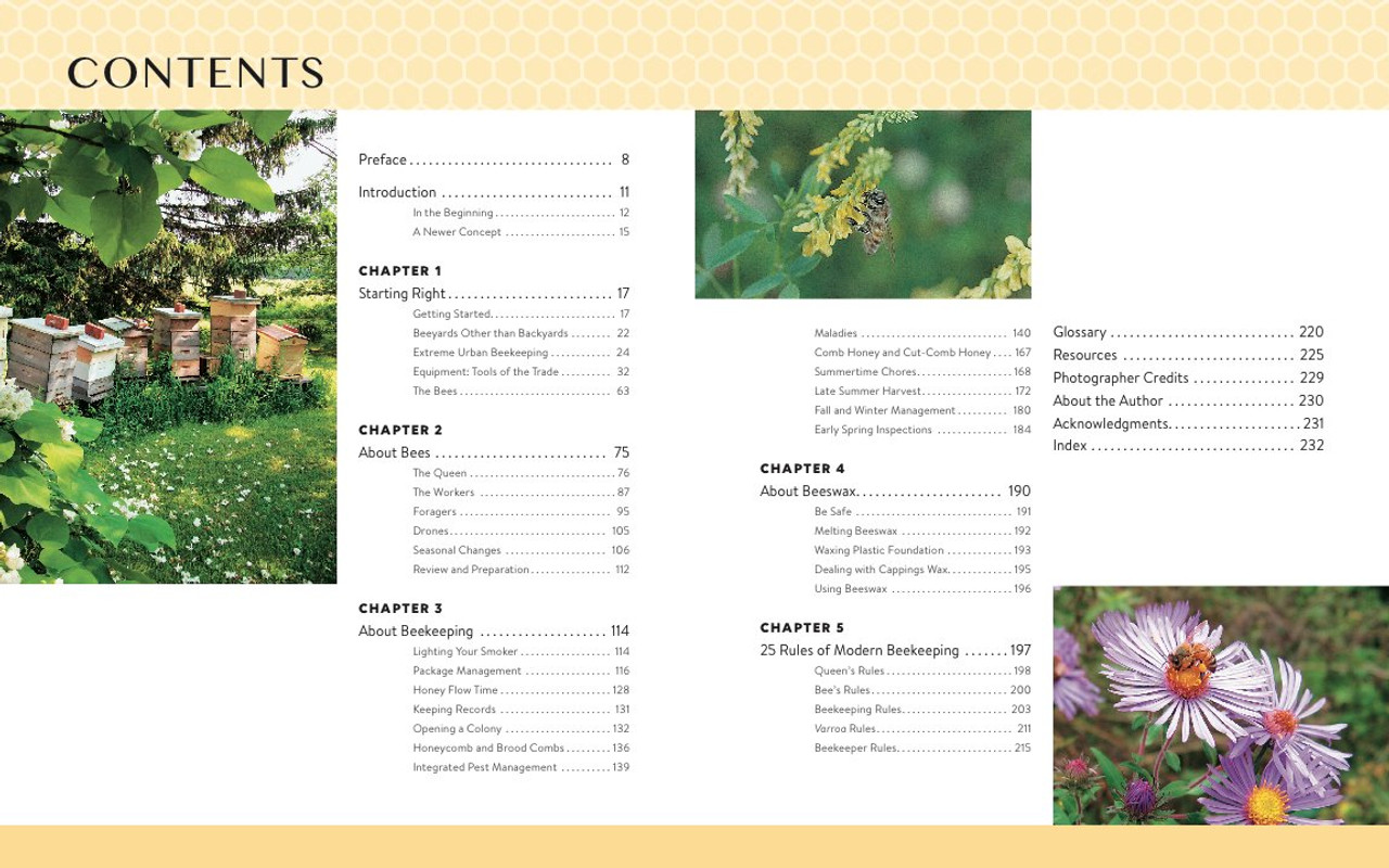 """alt=""""The Backyard Beekeeper table of contents"""""""