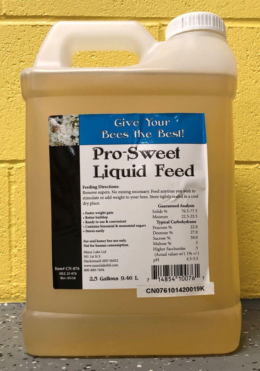 2 1/2 gallon jug Pro-Sweet Liquid Bee Feed