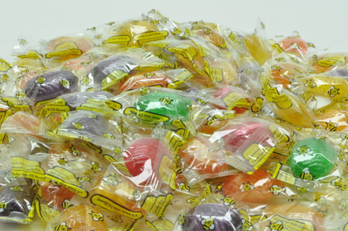 assorted fruit flavored honey filled candy