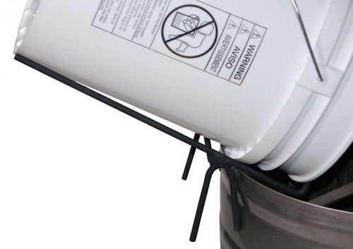 Used to support a pail over another pail, your bottling tank, etc. while allowing honey to drain.
