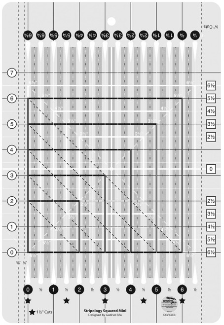 Creative Grids Stripology Squared MINI Quilting Ruler Template