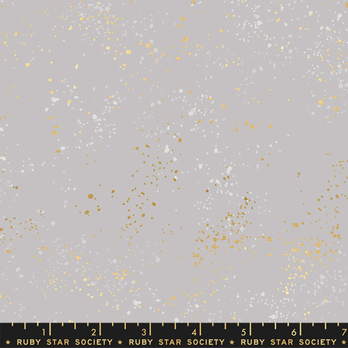 Wide Backing- Speckled Dove Metallic