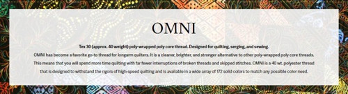 OMNI Thread Club Monthly Selection - Members Only