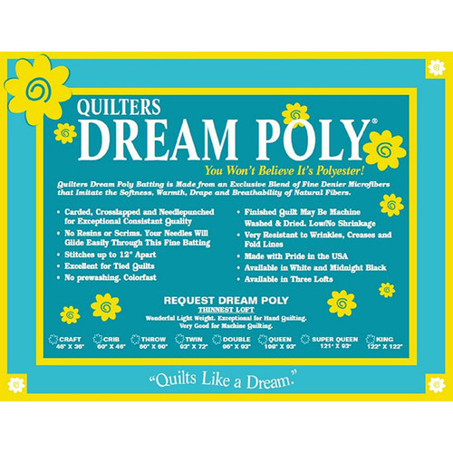 QUILTERS DREAM POLY *REQUEST WEIGHT* ~ You won't believe it's Polyeste