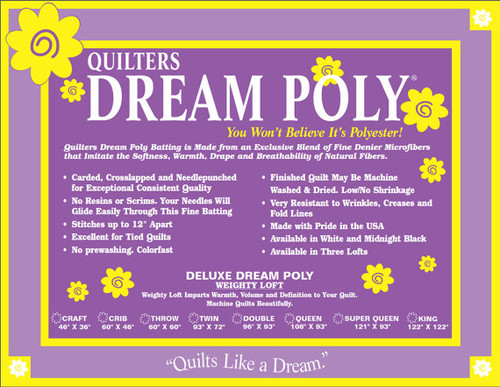 QUILTERS DREAM POLY *DELUXE WEIGHT* ~ You won't believe it's Polyester