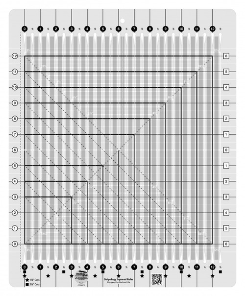 Creative Grids Stripology Squared Quilting Ruler Template- CGRGE2