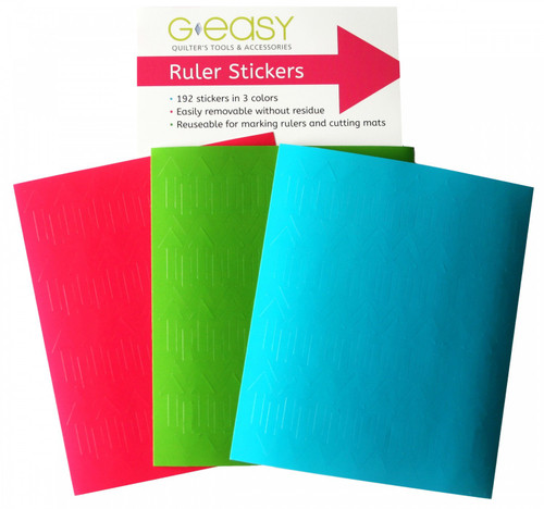 GEasy ruler stickers - Tropical Brights