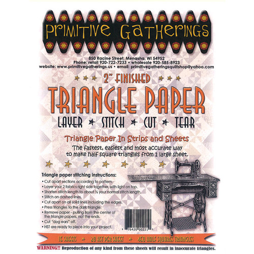 """PreOrder 2"""" Triangle Paper"""