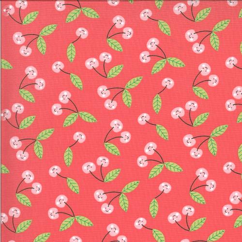 Hello Sunshine Cherries on Red