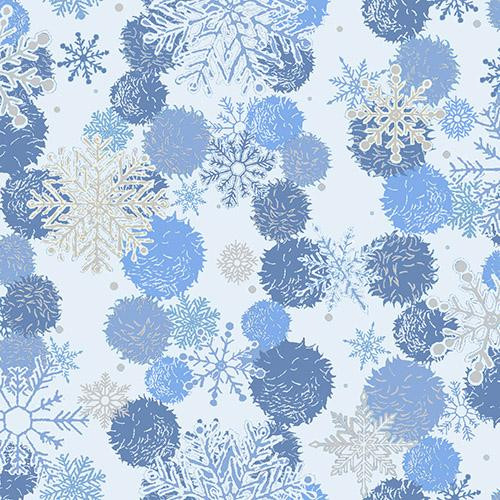 Blue Holiday - Snowflakes