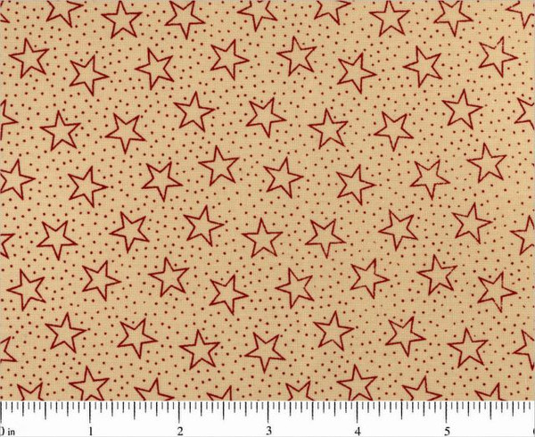 Wide Backing- Patriotic Red Stars