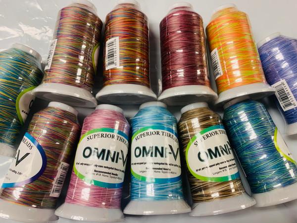 OMNI-V Variegated Thread Spool- Bulk Special