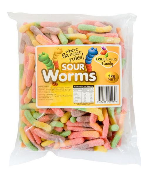 Sour Worms lolliland 1kg