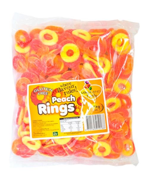peach rings 1kg lolliland