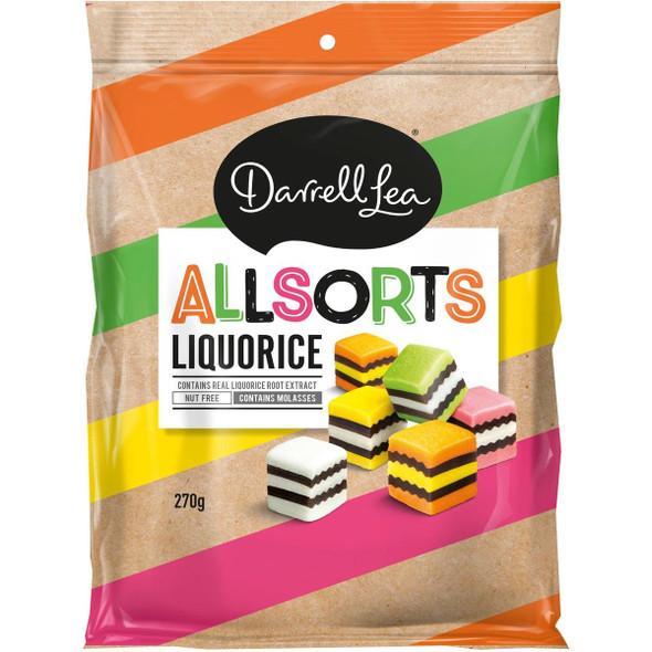 darrell lea licorice allsorts 270g