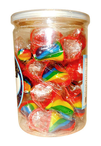 swirl mini dummy rainbow pops lollipop
