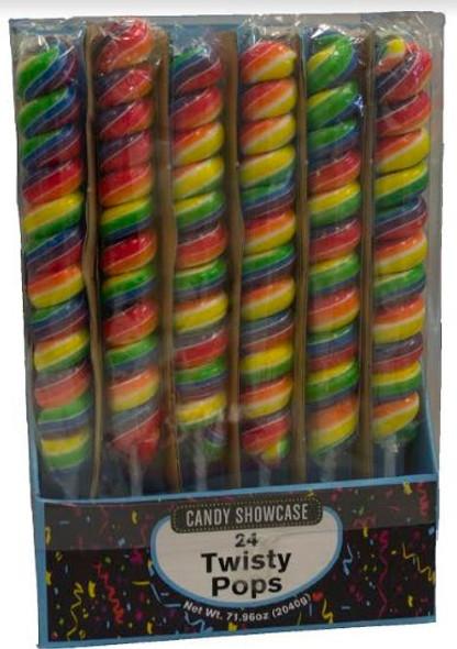 Rainbow twisty pops