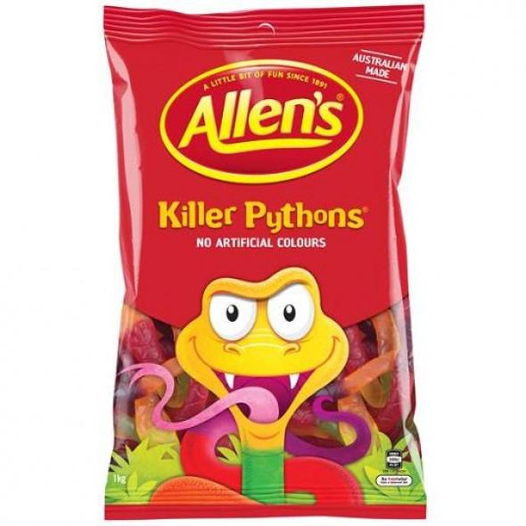 Allens killer pythons 1kg bulk bag of lollies