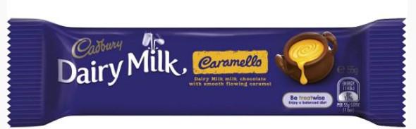 cadbury caramello medium bar single