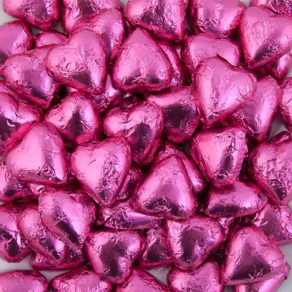 choc hearts hot pink 1kg