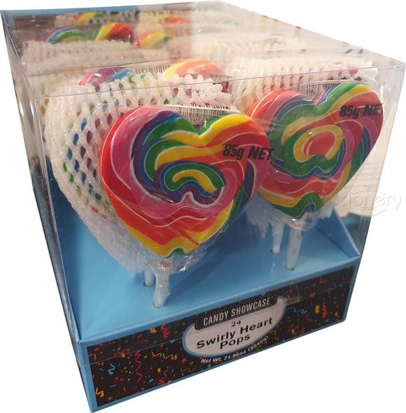 mega swirly heart pop 85g rainbow