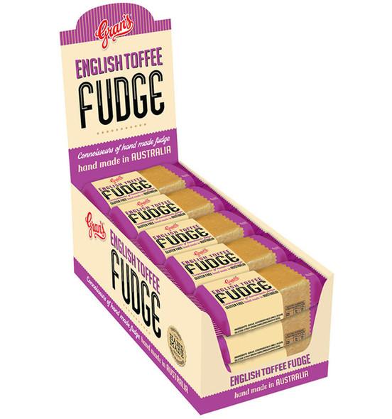grans english toffee fudge 15 x 40g bars