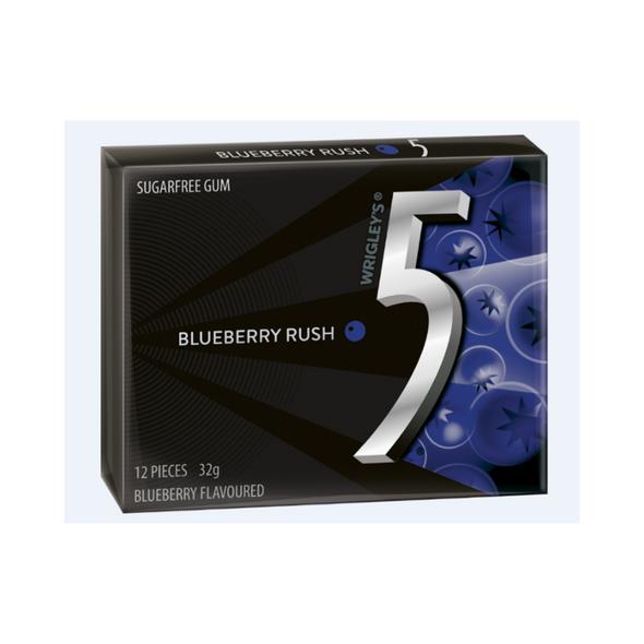 5 gum wrigleys blueberry rush